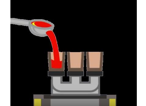 Representación de lo fácil que es medir el metal con el Thermolan